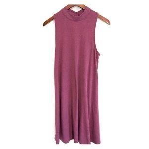 Kohls High neck choker tunic dress dusty rose med